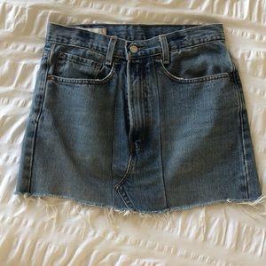 levi's constructed denim skirt